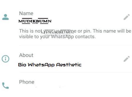 bio whatsapp keren