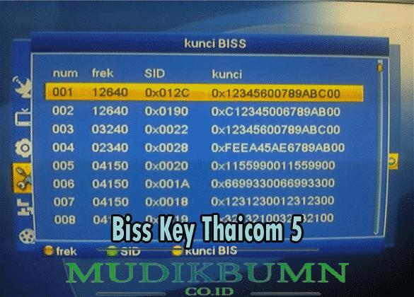 biss key thaicom 5 c band 2021