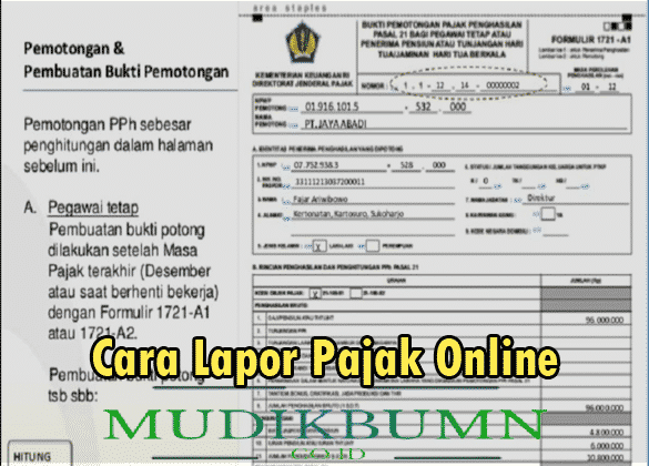 cara lapor pajak online 2021